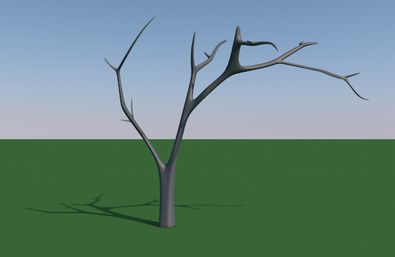 tree bald bare 3d model