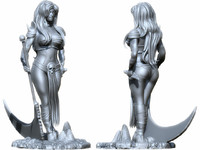 3d max woman warrior sculpture