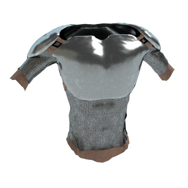 3d medieval body armor model