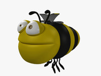 3d bee cartoon character model
