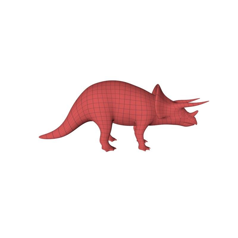 3d base mesh triceratops model