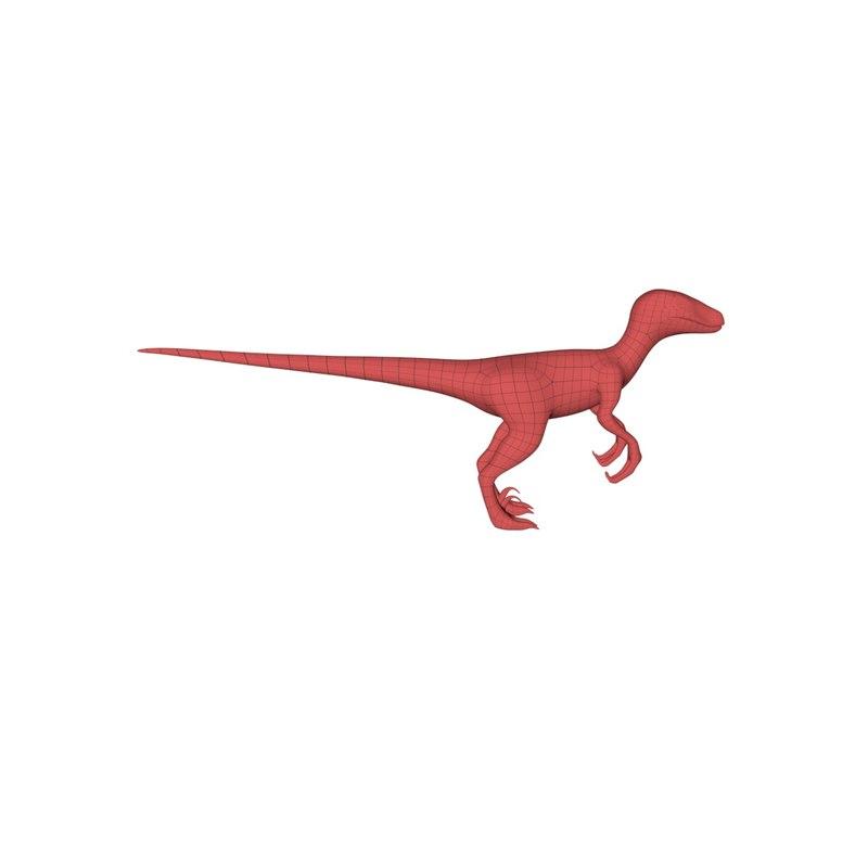 3d base mesh velociraptor model