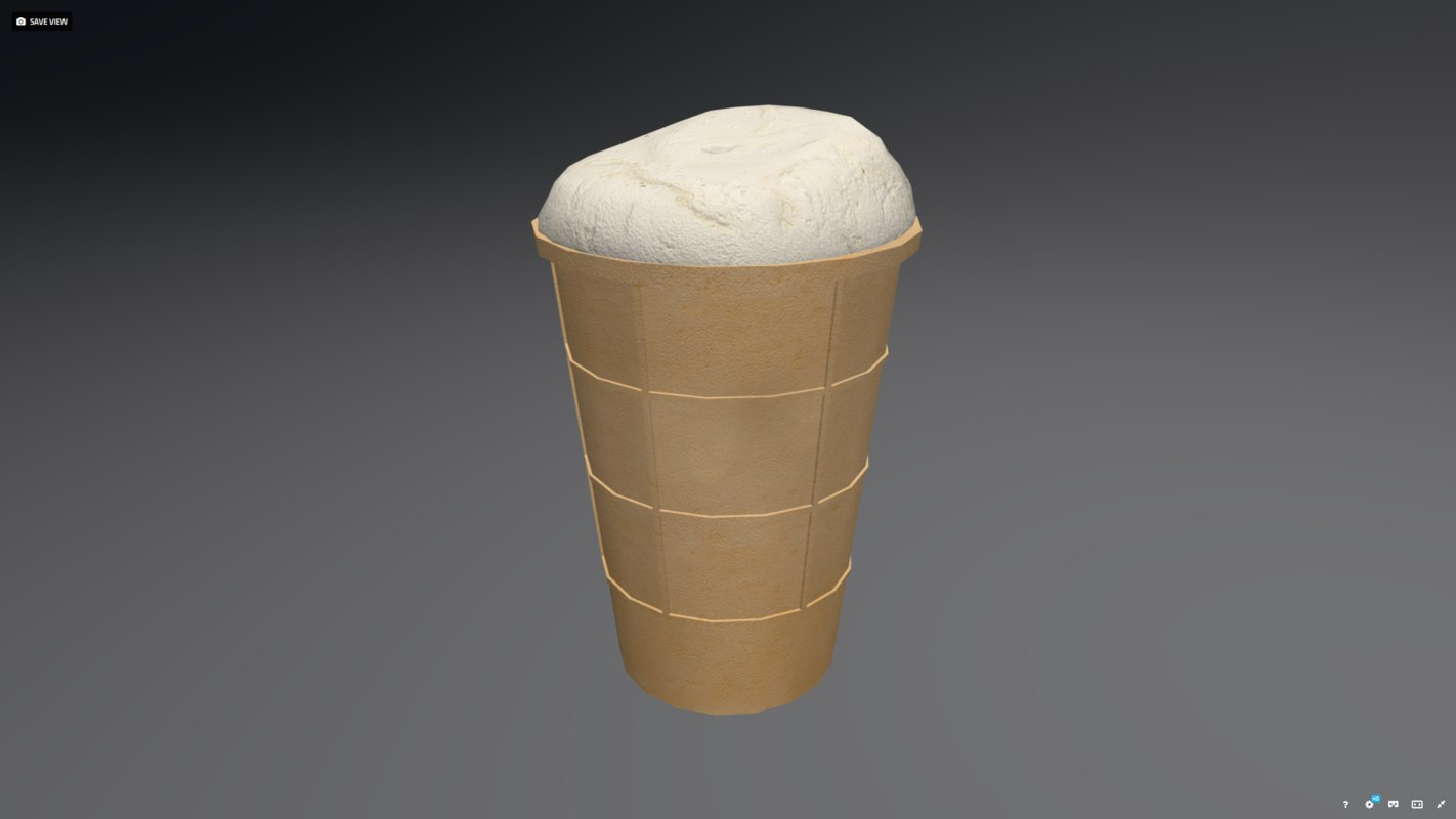 3d model low-poly ice cream