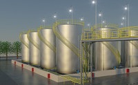 3d oil gas storage tanks