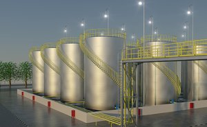 3d oil gas storage tanks