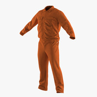 3d model builder long sleeve coveralls