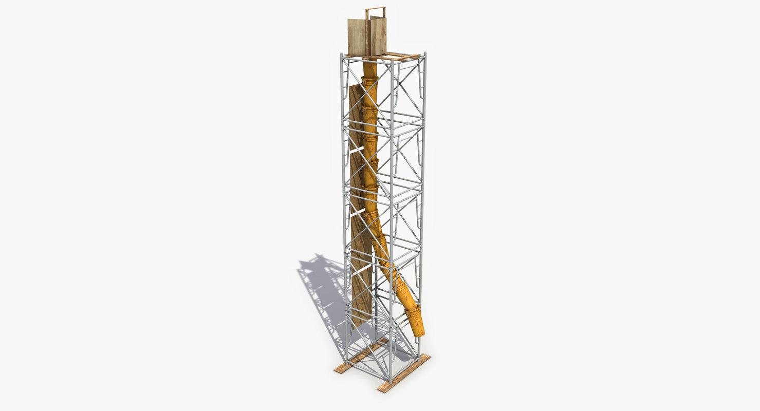 3d model of modeled works