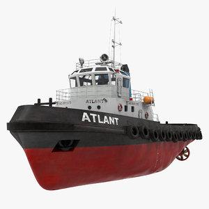 deep sea tug 3d model