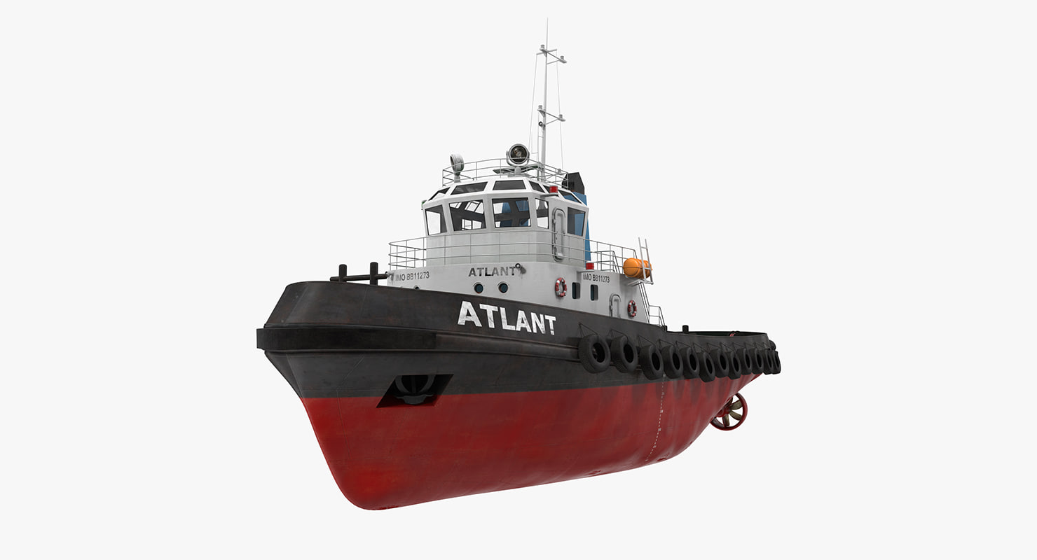 deep sea tug 3d model
