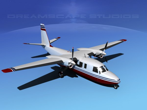 propellers rockwell turbo commander 690 3d lwo