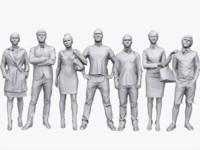 people pack casual 3d model