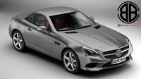 3d mercedes slc 2017 model