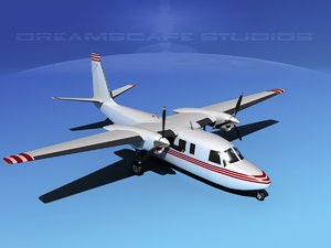 propellers rockwell turbo commander 690 3d max