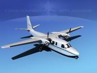 propellers rockwell turbo commander 690 3d model