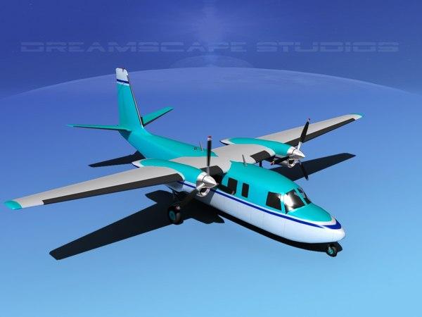 3d model propellers rockwell turbo commander 690