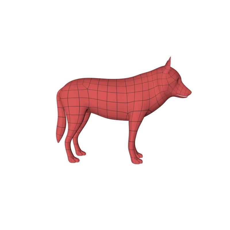 base mesh wolf c4d