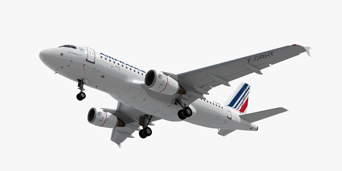 a319 plane air france 3d 3ds