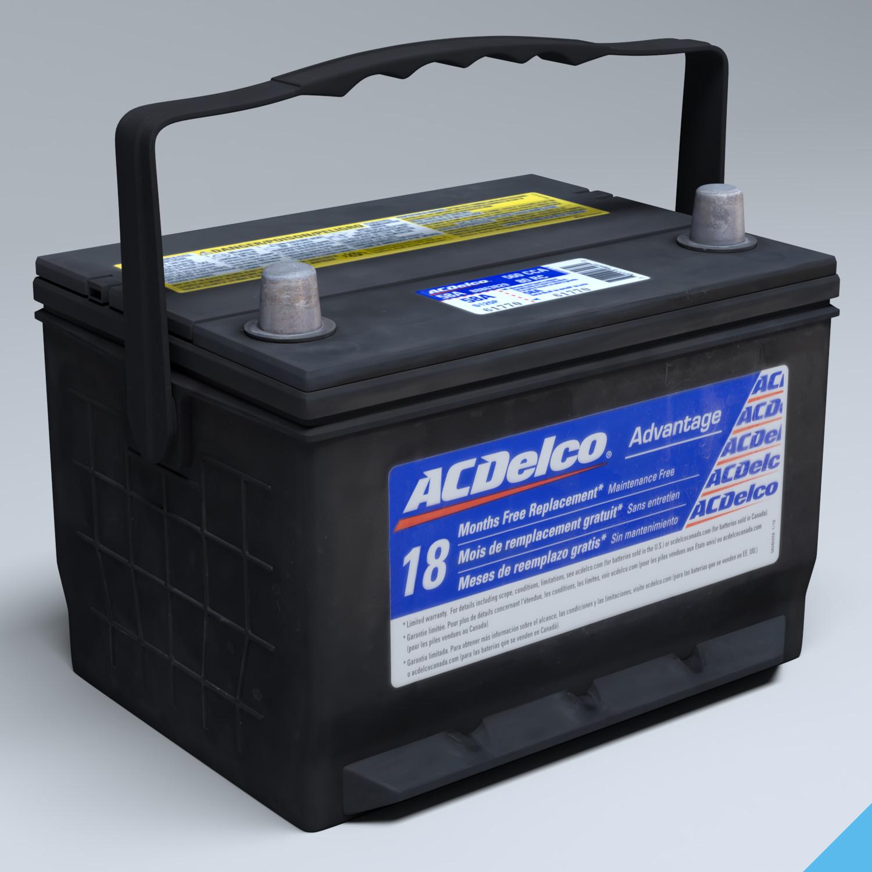 ac car battery 3d model