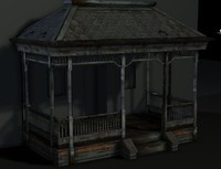 3d old haunted house