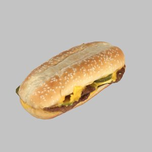 3d burger cheeseburger jalapeno