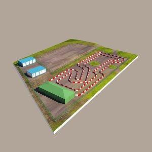 cart track 3d model