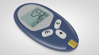 3d model blood glucose monitor