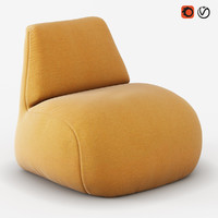armchair scilla 3d obj