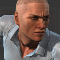 morgan kaney male human rigged 3d model