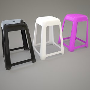 3d model plastic seat rimax