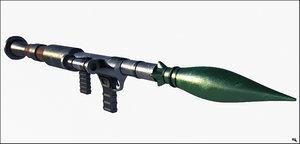 bazooka rpg 3d model
