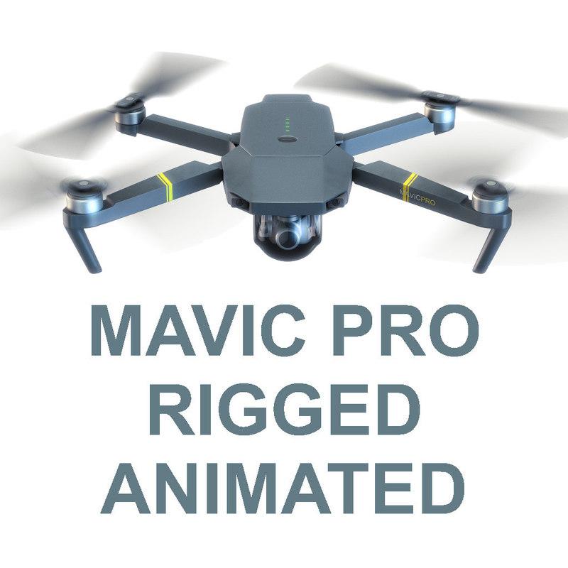 3d model dji mavic pro drone