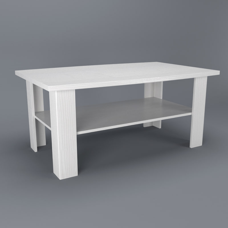free max model white coffee table anrex