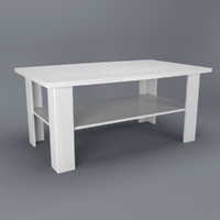 free max model white coffee table anrex
