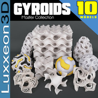 gyroid mathematical abstract 3d max