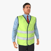 3d model construction architect yellow safety