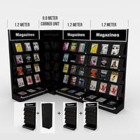 modular magazine shelf book 3ds