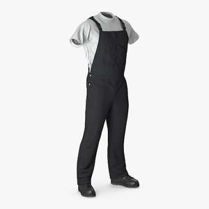 3d mens work wear black