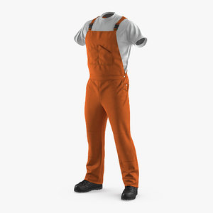 orange waterproof mens work c4d