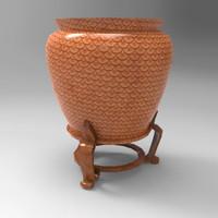 3d vintage decorative vase