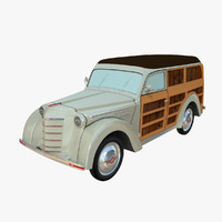 moskvich 400-422 woody 3d max