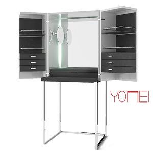 magic cube yomei dressing table 3d obj