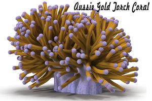 3d obj sea corals aussie gold