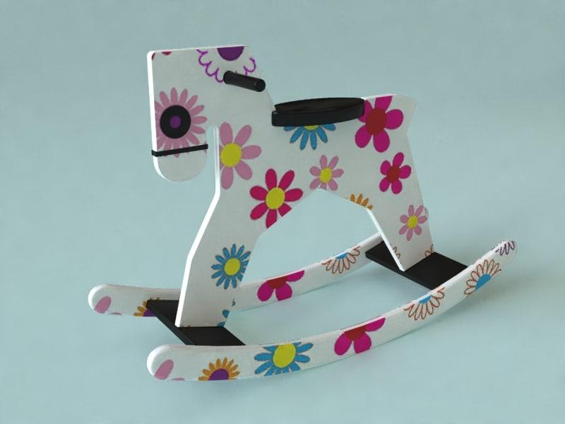 toy horse s 3d model