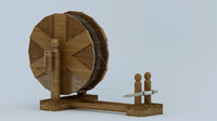 Medieval Town Sheave - spinning wheel