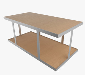industrial square table 3d model