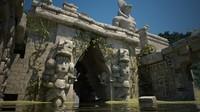 flooded sacred city channel 3d model