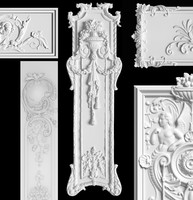 Carving Panel Cartouches SET