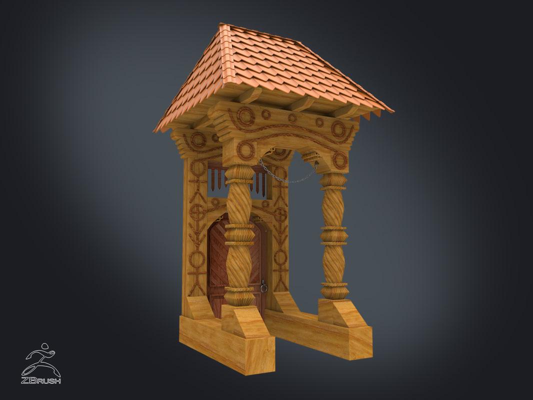 zbrush gate 3d model