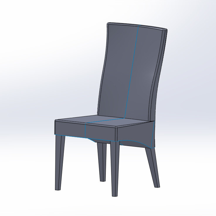 3d wicker chair model