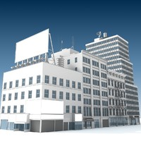city buildings 2 3d model